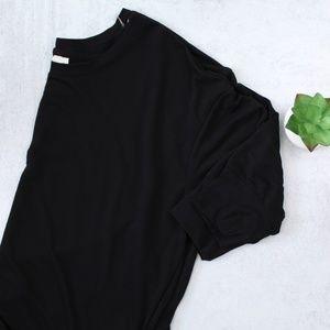 Danskin Now Black Hi Low Hem Sweatshirt Size 2X